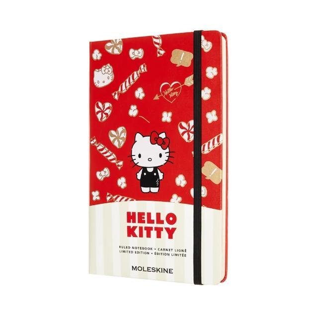 【MOLESKINE】HELLO KITTY限量筆記本(紅色L型橫線)