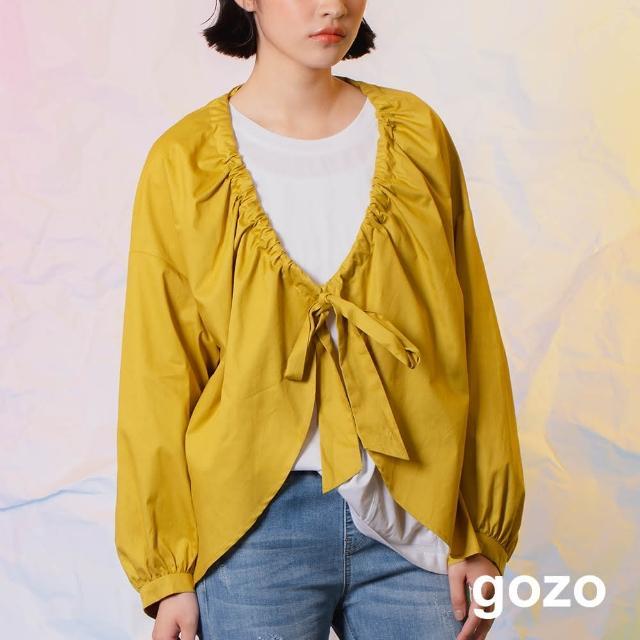 【gozo】minus g-限量系列 前後兩穿波浪罩衫(兩色)