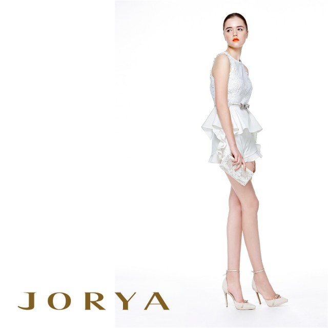 【JORYA】H1200904荷葉滾邊唯美波浪素面短褲