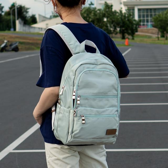 【J II】後背包-極限水洗雙拉鍊後背包-灰綠色-6566-14(後背包)