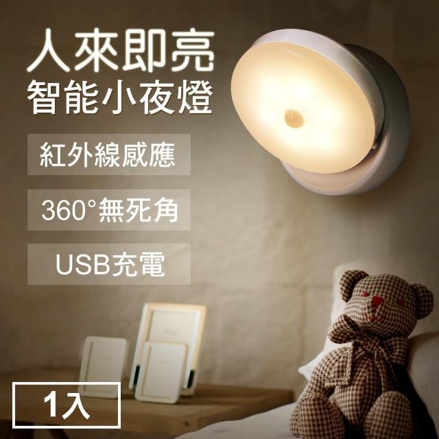 【TheLife】360度紅外線感應磁吸式LED小夜燈USB充電小夜燈