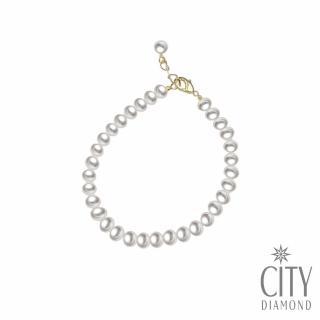 【City Diamond 引雅】天然小珍珠 氣質韓風 簡約百搭 手鍊(手作設計系列)