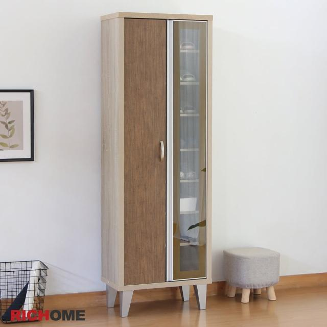 【RICHOME】米亞玻璃門高鞋櫃/鞋架/玄關櫃/置物櫃/收納櫃(日式玻璃門經典設計)