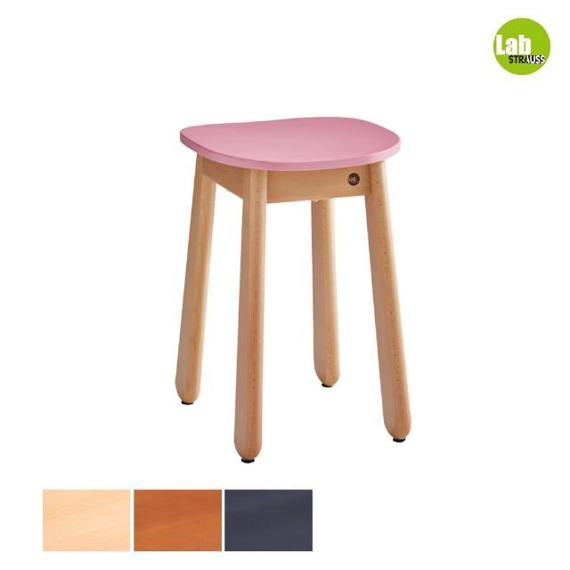 【有情門】STRAUSS Lab卡哇伊矮凳-粉紅色 三木色可選(製作期為10-15個工作天/實木/MIT/休閒椅/工作椅)