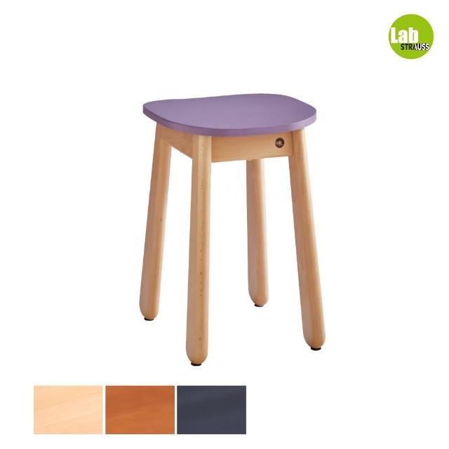 【有情門】STRAUSS Lab卡哇伊矮凳-紫色 三木色可選(製作期為10-15個工作天/實木/MIT/休閒椅/工作椅)