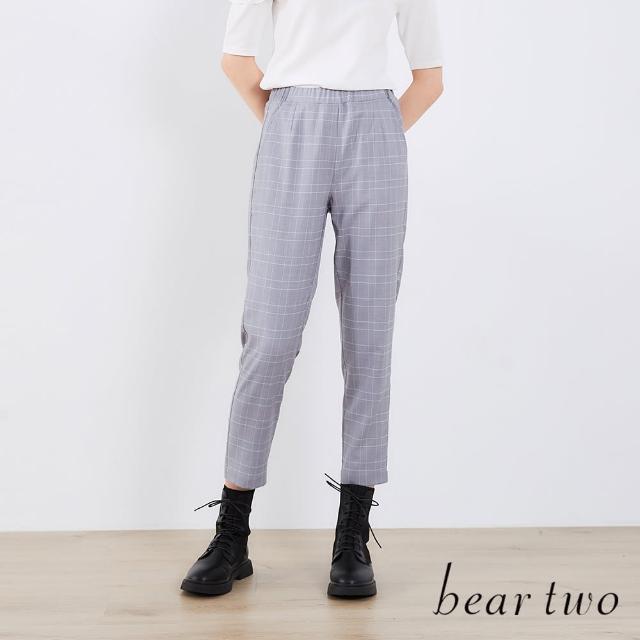 【bear two】英倫風格紋長褲(兩色)