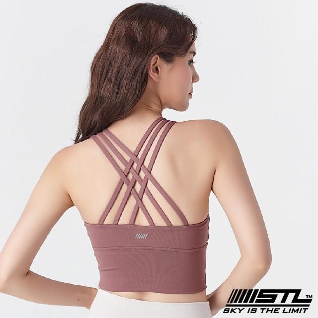 【STL】yoga Crop Top Bra 123 韓國瑜伽「專利記憶棉胸墊」機能運動內衣/短版上衣(乾燥玫瑰DryRose)
