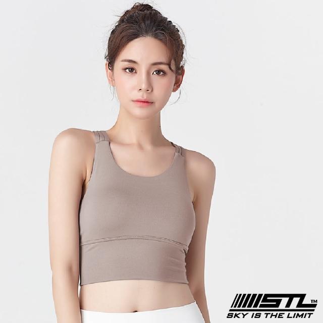 【STL】yoga Crop Top Bra 123 韓國瑜伽「專利記憶棉胸墊」機能運動內衣/短版上衣(奶茶色Hazelnuts)