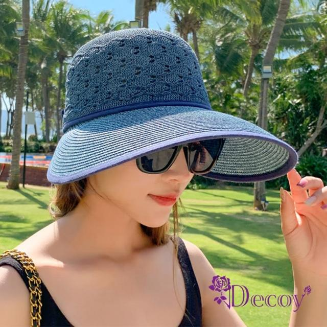 【Decoy】風雅渡假*緞帶蝴蝶結加大防曬遮陽帽