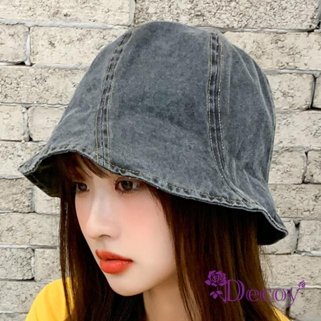 【Decoy】刷舊牛仔*日韓防曬遮陽小圓盆帽