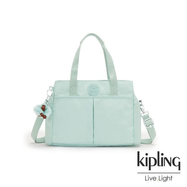 【KIPLING】神秘薄荷藍大容量手提兩用包-KENZIE