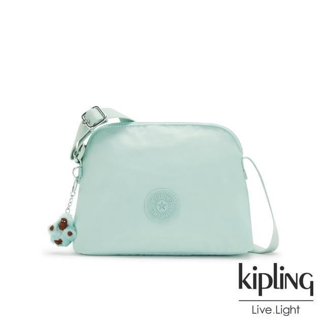 【KIPLING】神秘薄荷藍隨身斜背包-DIEP