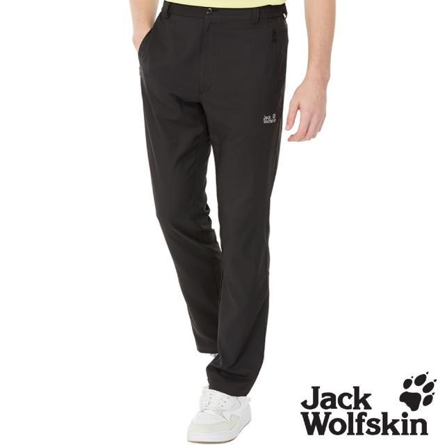 【Jack wolfskin 飛狼】男 涼感透氣排汗休閒長褲(黑色)