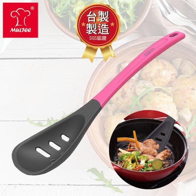 【MULTEE 摩堤】烹飪工具-漏勺(繽紛色 / 食品級矽膠材質)