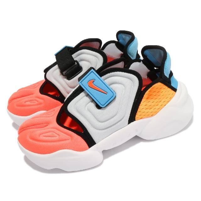 【NIKE 耐吉】休閒鞋 W Aqua Rift 忍者鞋 女鞋 海外限定 撞色拼接 球鞋 灰 黃(CW7164-002)