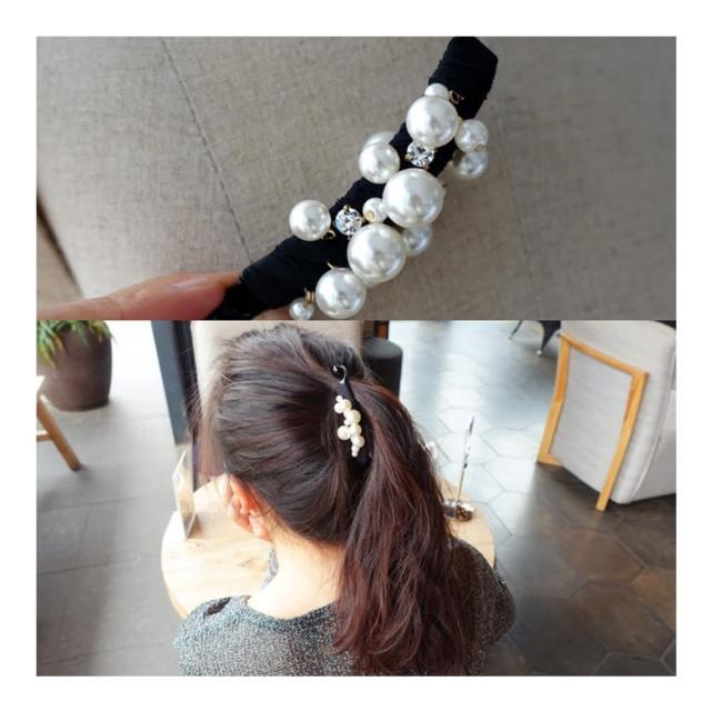 【HaNA 梨花】韓國小店長驚豔自留全珍珠緞帶香蕉夾