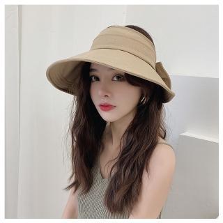 【HaNA 梨花】夏日美麗防曬日記.可收納捲折大蝴蝶結盆帽