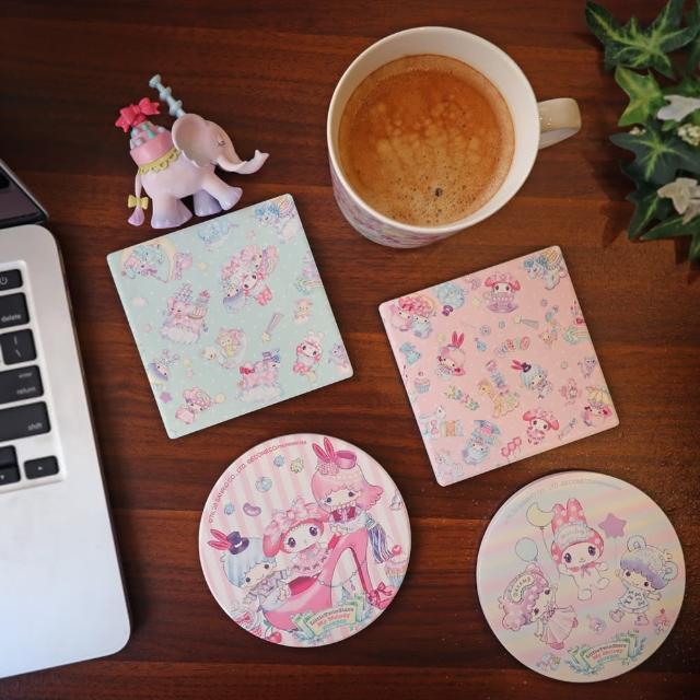 【傑作陶藝】SANRIO X ECONECO 陶瓷吸水杯墊4入收藏組
