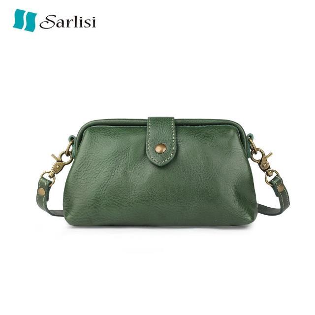 【Sarlisi】手工復古植鞣皮醫生包真皮牛皮單肩斜背小包包質感小眾輕奢女包