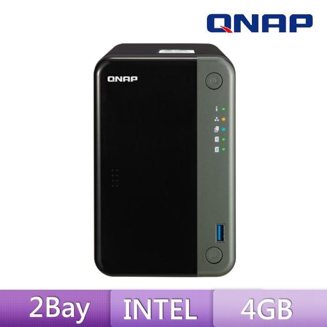 【送ASUS雙頻分享器】QNAP 威聯通 TS-253D-4G 2Bay 網路儲存伺服器