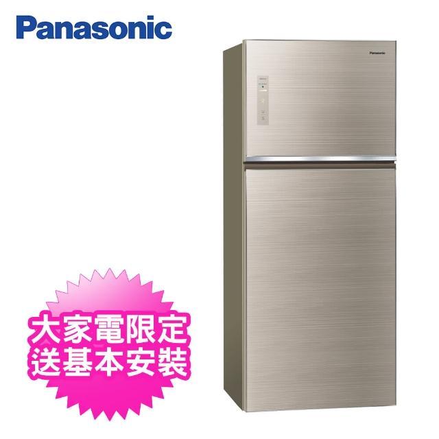 【Panasonic 國際牌】422公升一級能效雙門變頻冰箱(NR-B421TG-N曜石金)