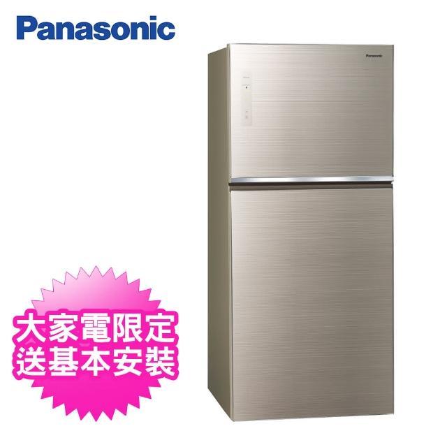 【Panasonic 國際牌】650公升一級能效玻璃雙門變頻冰箱(NR-B651TG-N翡翠金)