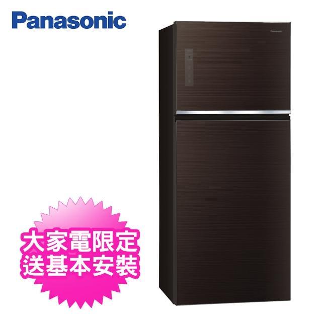 【Panasonic 國際牌】422公升一級能效雙門變頻冰箱(NR-B421TG-T曜石棕)