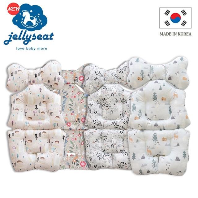 【韓國jellyseat】全方位3D超彈力 嬰兒推車座墊-四季款(任選2入)