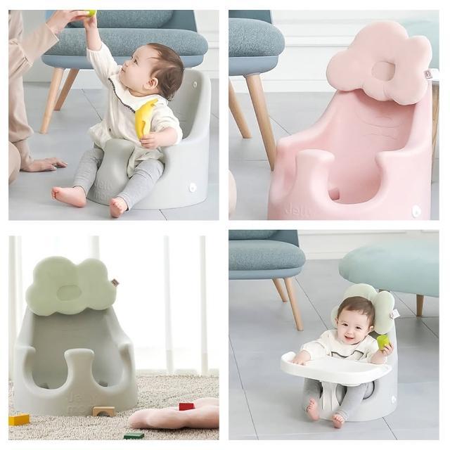 【JellyMom】韓國製姆尼亞多功能組合式幫寶椅/兒童用餐椅超組合組(幫寶椅+靠枕+安全帶+餐盤)