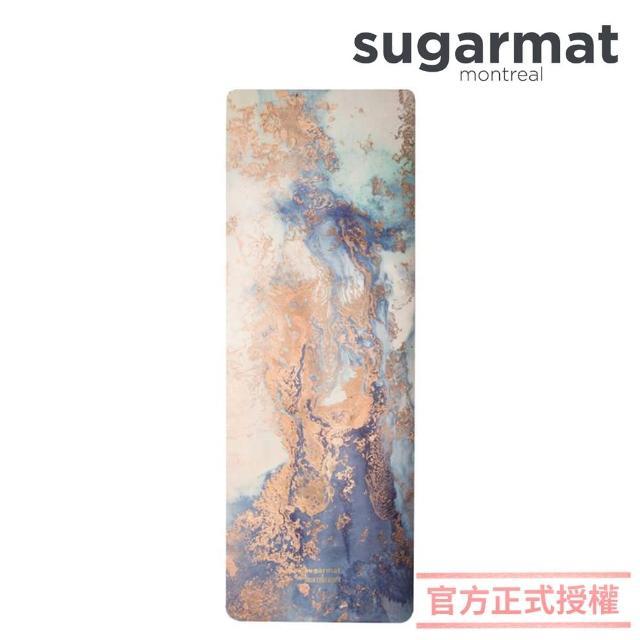 【加拿大Sugarmat】麂皮絨天然橡膠瑜珈墊 3.0mm 追夢者 Dream Catcher(藍色)