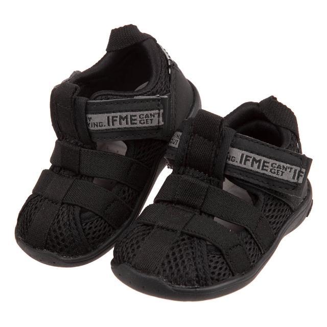 【布布童鞋】日本IFME黑色和風寶寶機能水涼鞋(P1H811D)