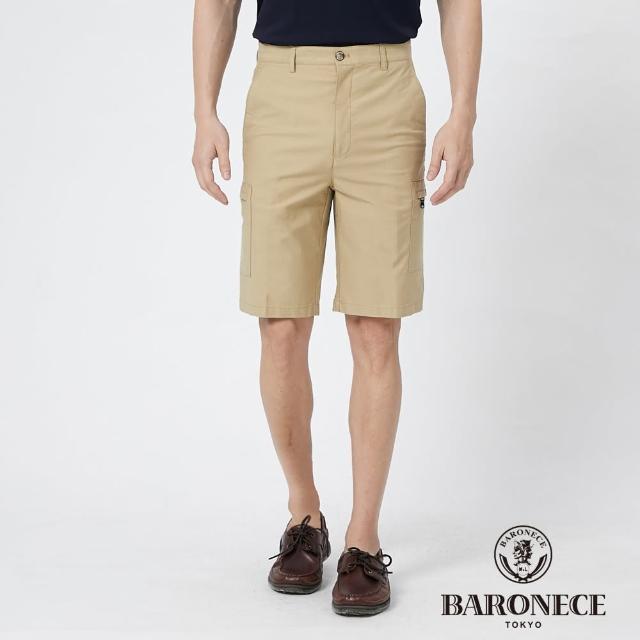 【BARONECE 百諾禮士】男裝 彈性棉質平口休閒短褲--卡其色(1188964-84)