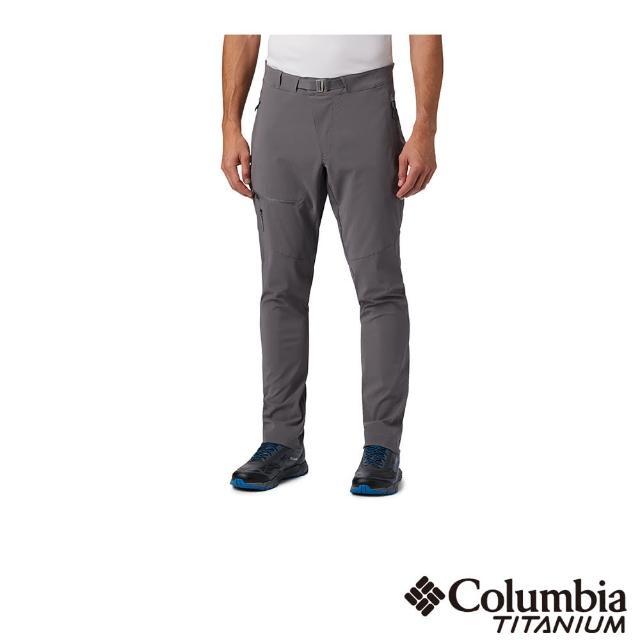 【Columbia 哥倫比亞】男款-鈦 UPF50防潑長褲-深灰(UAE03170DY / 防潑.防曬.休閒)