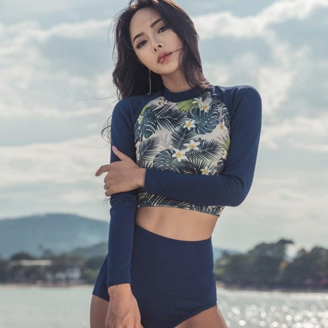 【Eclare & Miel】泳裝 泳衣 韓版水母衣二件式衝浪泳裝RCSW0225