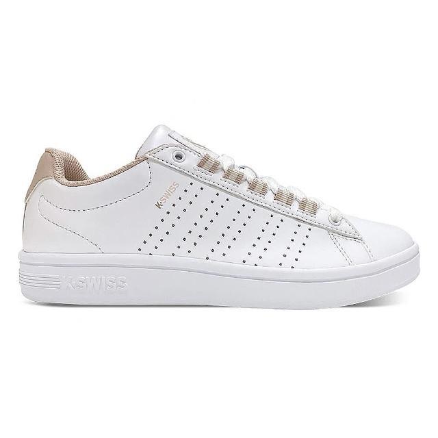 【K-SWISS】時尚運動鞋 Court Casper II S-女款 白 奶茶(96975131)