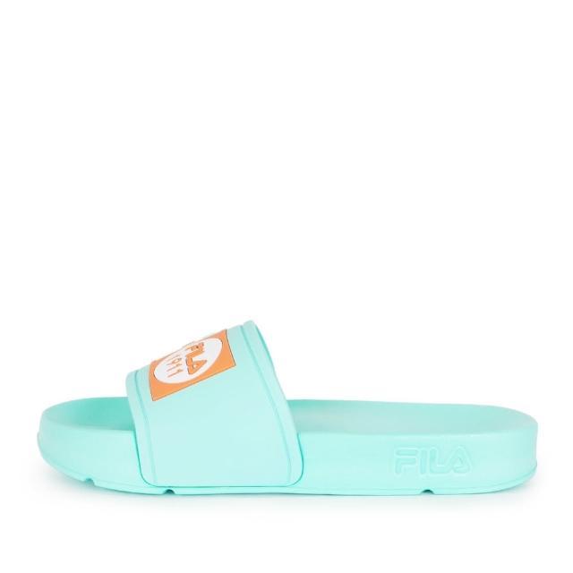 【FILA】Fila Pop Slide 拖鞋 女 運動 休閒 舒適 輕量 防水 綠橘(4-S351V-336)