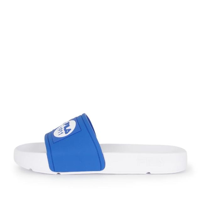【FILA】Fila Pop Slide 拖鞋 男女 運動 休閒 舒適 輕量 防水 藍白(4-S351V-133)