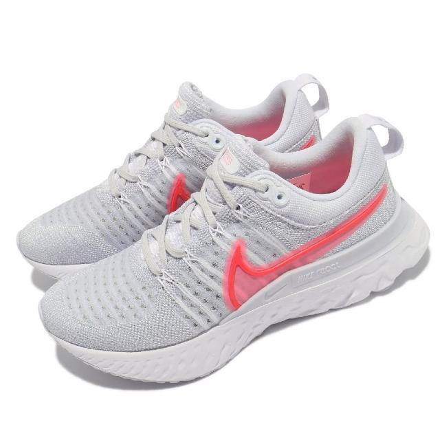【NIKE 耐吉】慢跑鞋 React Infinity Run 女鞋 輕量 透氣 舒適 避震 路跑 健身 灰 紅(CT2423-004)