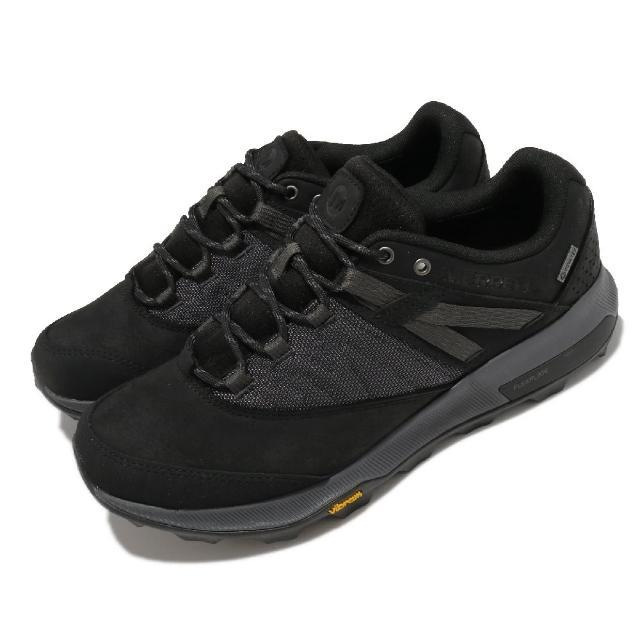【MERRELL】戶外鞋 Zion GTX 運動休閒 男鞋 登山 越野 耐磨 黃金大底 穩定 吸震墊片 黑灰(ML036233)
