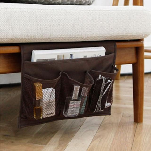 【熊愛貝】日系收納床邊沙發插掛袋 可收納平板搖控器雜誌文具
