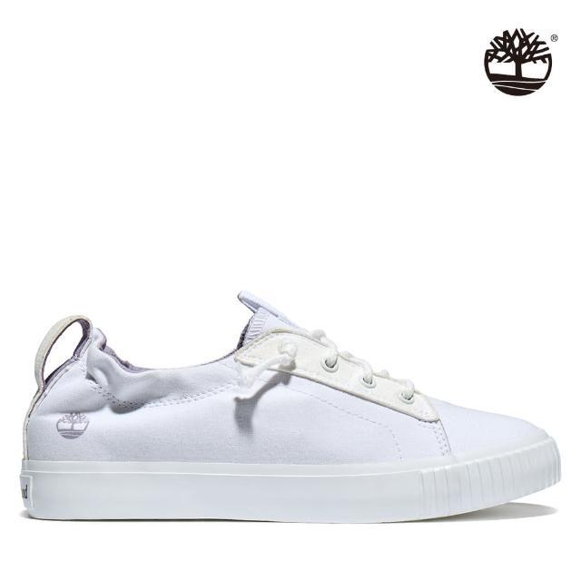 【Timberland】女款白色Newport Bay帆布牛津鞋(A2GZXL77)