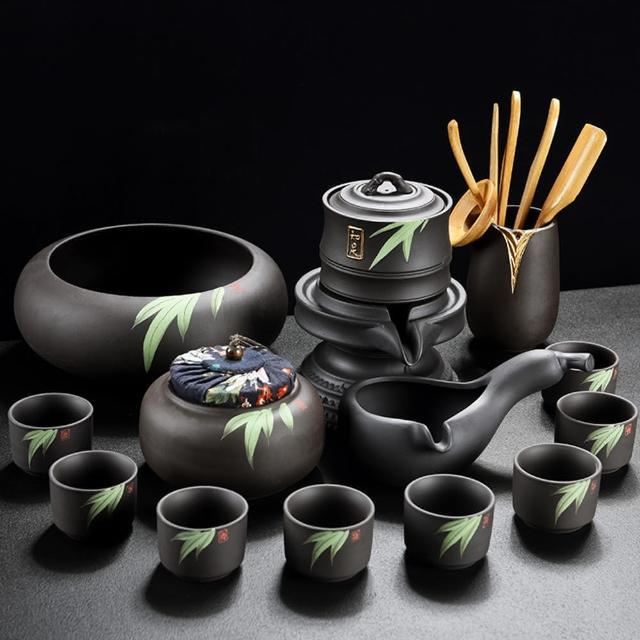 【Pure】名垂竹帛手繪紫砂茶具13件組