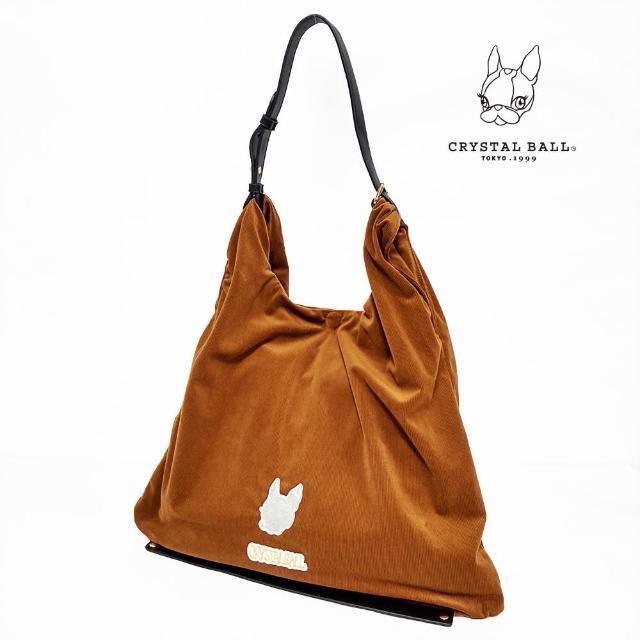 【CRYSTAL BALL 狗頭包】Silver hippie Corduroy bag時尚包(狗頭包)