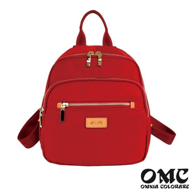 【OMC】文青風采手提寬底後背包-紅色