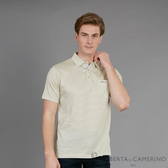 【ROBERTA 諾貝達】台灣製 簡約時尚 都會經典休閒短袖棉衫(米黃)
