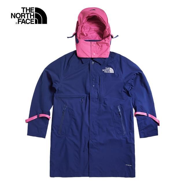 The North Face【The North Face】The North Face北面UE男款藍色可調節撞色連帽衝鋒衣|49CON8E