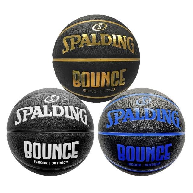 【SPALDING】Spalding Bounce 籃球 7號 PU 控球佳 耐磨 抓感好 室內 室外 黑(SPB91005)