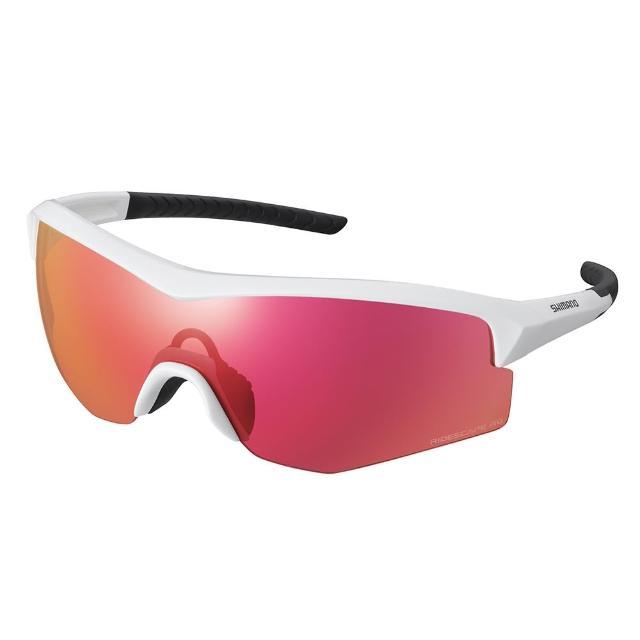 【SHIMANO】SPARK RIDESCAPE RD 一片式太陽眼鏡 金屬白