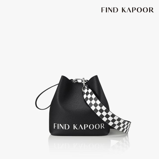 【FIND KAPOOR】PINGO 20 字母格紋系列 手提斜背水桶包- 黑色
