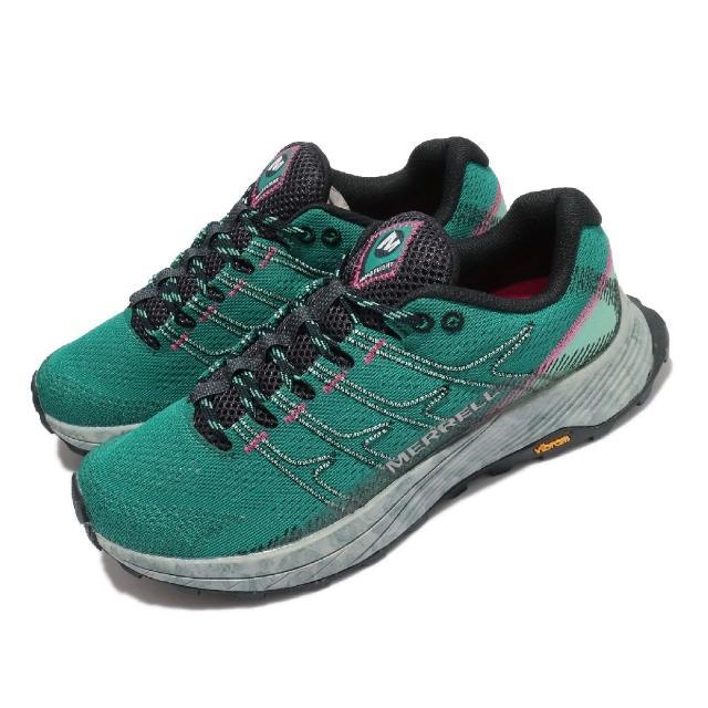 【MERRELL】戶外鞋 Moab Flight 運動 女鞋 登山 越野 耐磨 黃金大底 彈性 透氣 綠 灰(ML066814)